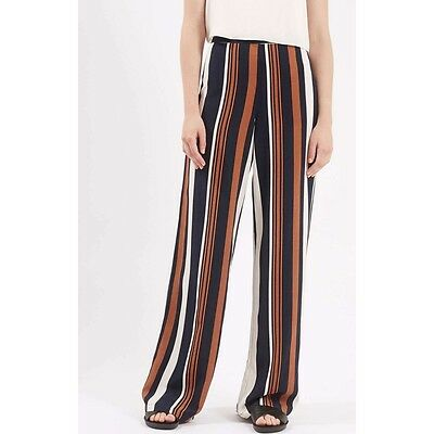 Topshop Ladies Wide Leg Palazzo Trousers Size 6 8 10 12 14 (147)