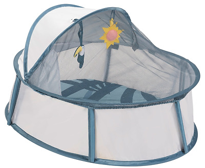 Brand new Babymoov little babyni travel cot in tropical with anti-uv coating