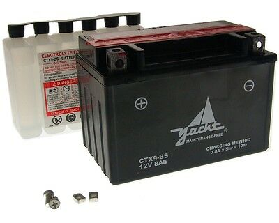 Battery CTX9-BS / YTX9-BS 12 Volt - KTM EGS 400 LC4 year of construction 1998