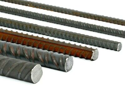 Mild Steel REBAR 12 popular lengths & 6 Diameters Bandsaw Cut UK Trade Supplier