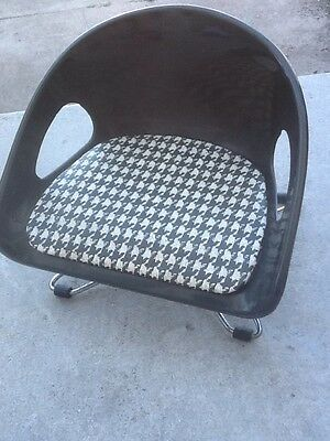 Vintage Booster Seat Mid Century Cosco Toddler Chair Houndstooth  2 Levels