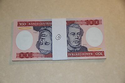 Pack of 15 Banknotes, Brazil 100 Cruzeiros, 1984, P-198, UNC