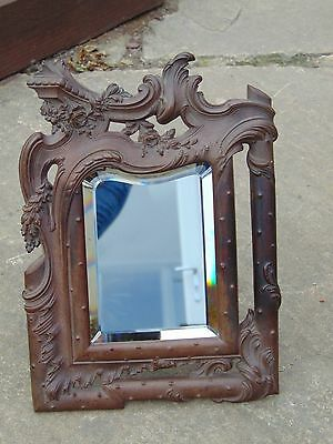GENUINE ANTIQUE MID 19th CENTURY FRENCH BOIS DURCI MIRROR / PICTURE EASEL FRAME