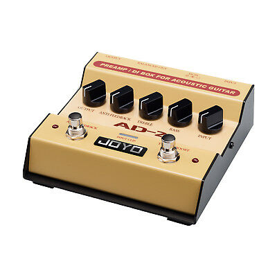 Joyo AD2 PreAmp and DI Box Pedal for Acoustic Guitar - New