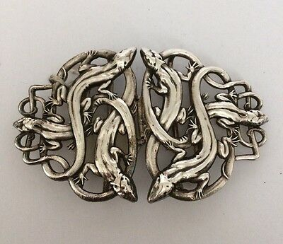 Vintage Lizard Belt Buckle - Nurse Style