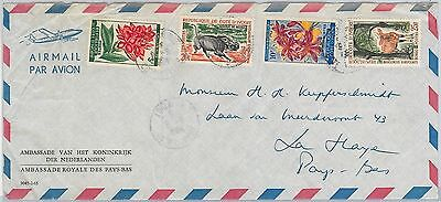 62912 -  Ivory Coast - POSTAL HISTORY - AIRMAIL COVER to HOLLAND   - ANIMALS