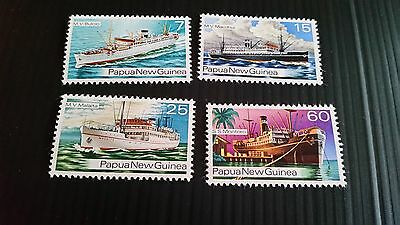 Papua New Guinea  1976 Sg 297-300 Ships Of The 1930S.mnh