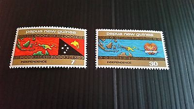 Papua New Guinea  1975 Sg 294-295 Independence Mnh