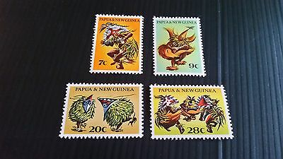 Papua New Guinea  1971 Sg 208-211 Native Dancers.mnh