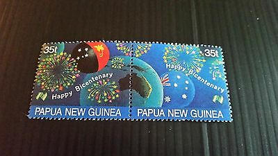 Papua New Guinea  1988 Sg 576-577 Bicent Of Settlement. Mnh