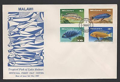 Malawi 1967 Tropical Fish Of Lake Malawi *unaddressed Fdc* Fine