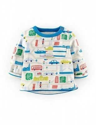 Mini Baby Boden Boys London Reversible Tee Top Shirt Ages 0 months - 3 years
