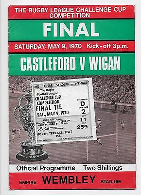 Collection Castleford V Wigan 1970 Rugby League Final & Ticket & Semi Finals
