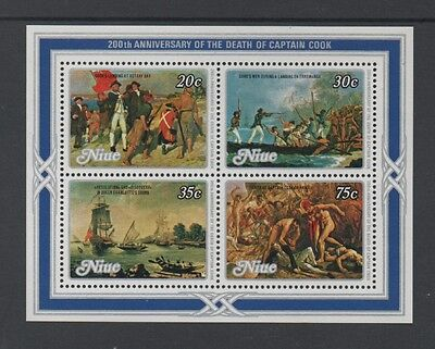 Niue 1979 Death Bicentenary Of Captain Cook Min Sheet *mnh*