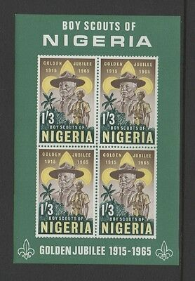 NIGERIA 1965 50th ANNIV OF NIGERIAN SCOUT MOVEMENT MIN SHEET *MNH*