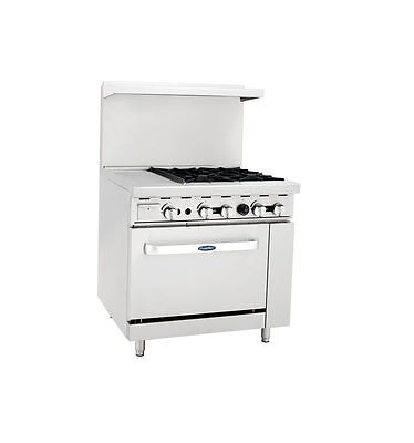 "New Heavy 36"" Range 12"" Griddle 4 Burners 1 Full Oven Stove  Natural Gas Only"