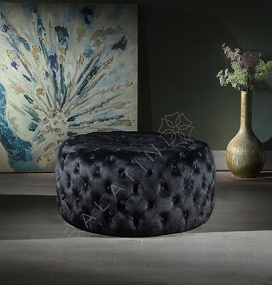 Footstool / Stool / Pouffe / Seat New In Velvet Availbale Various Colours Round