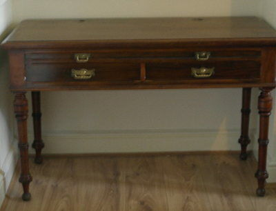 antique  english mahogany DESK made by mapin & co
