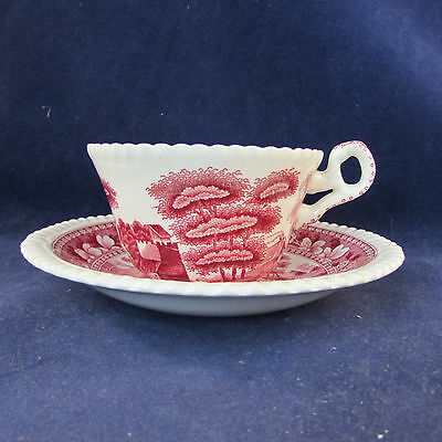 SET OF EIGHT - Spode China PINK TOWER Cup & Saucer Sets