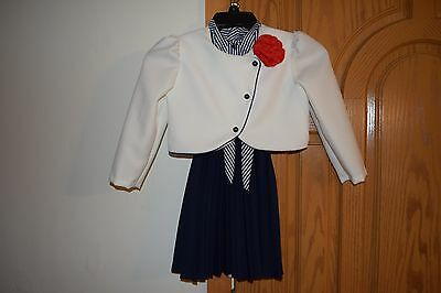 RARE Vintage girls size 6 Union Made Workers Label 2 piece dress outfit w/belt