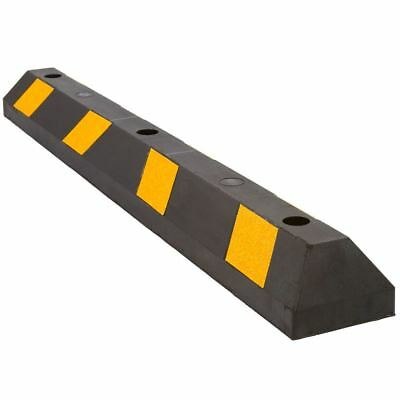 """48"""" Rubber Parking Block for Car Garage, Curb Wheel Stop or Driveway"""
