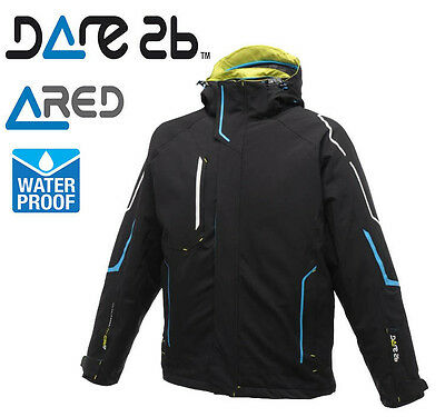 Dare2b Mens Tenacity Waterproof & Breathable Padded Winter Ski Jacket Ared 10000