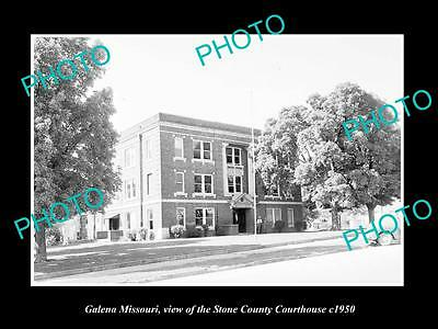 OLD LARGE HISTORIC PHOTO OF GALENA MISSOURI, THE STONE COUNTRY COURT HOUSE c1950