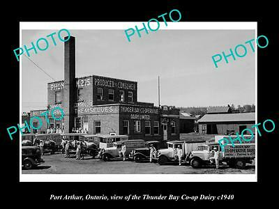 Old Large Historic Photo Of Port Arthur Ontario, The Thunder Bay Dairy Coop 1940