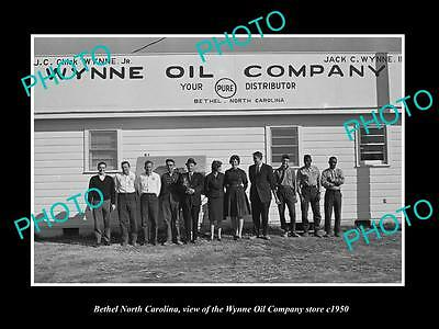 OLD LARGE HISTORIC PHOTO OF BETHEL NORTH CAROLINA, THE WYNNE OIL Co STORE c1950