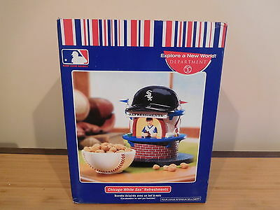 Dept 56 CIC - Chicago White Sox Lighted Refreshment Stand & Snack Dish - NIB
