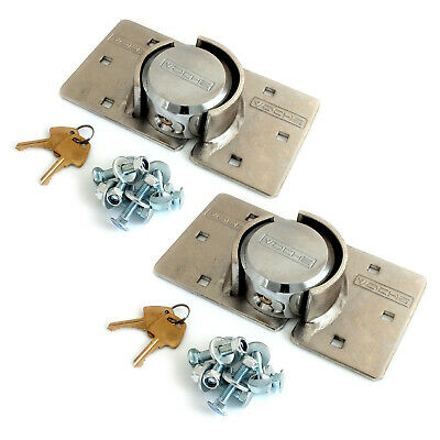 PACK OF 2 VOCHE® HIGH SECURITY 73mm PADLOCK & HASP SETS VAN LOCKS + FIXING KITS