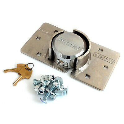 VOCHE® HIGH SECURITY 73mm PADLOCK & HASP SET VAN LOCK + NUTS & BOLTS FIXING KIT