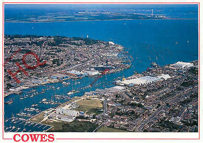 Postcard: Isle Of Wight, East And West Cowes At The Mouth Of The River Medina