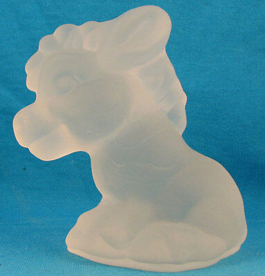 Goebel frosted glass donkey or horse FREE SHIPPING Germany Excellent old vintage