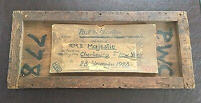 WHITE STAR LINE RMS MAJESTIC - Wooden Crate Top Circa 1928