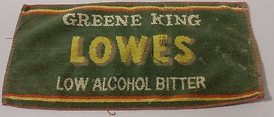 """Vintage Greene King -Lowes, Low Alcoholic Bitter Bar towel -17"""" x 8"""" -Great READ"""