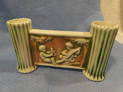 Roseville Donatello Double Bud Vase Gate Style