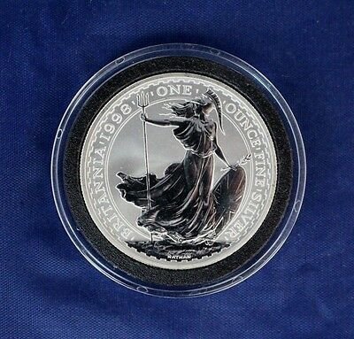 1998 Silver 1oz Britannia £2 coin in Capsule with COA  (A7/5)