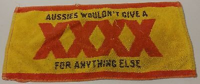 """Castlemaine -Aussies Wouldn't Give A XXXX - Bar towel -17"""" x 8"""" -Great - READ"""