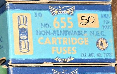 Lot of 10 Cooper Bussmann Eagle NON-50 FAST ACTING General Purpose FUSE 50A NEW