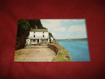 VINTAGE WALES: CARMARTHENSHIRE LAUGHARNE Dylan Thomas' boathouse panorama colour