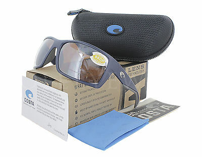 NEW Costa Del Mar Reefton Matte Dark Blue / Silver Mir RFT75-OSCP580P Sunglasses