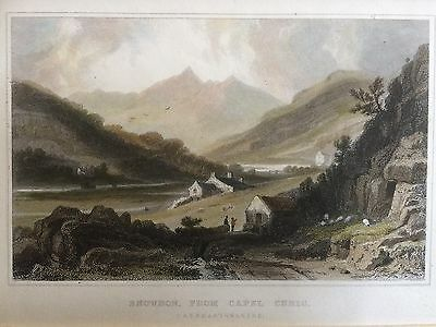 1830 Print; Snowdon from Capel Curig, North Wales after Henry Gastineau