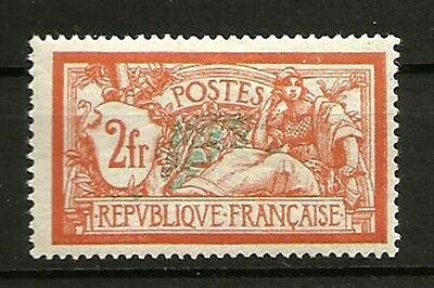 France N° 145 Type MERSON, Le 2 F. NEUF**. Cote 150€