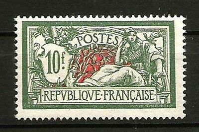 France N° 207 Type MERSON, Le 10 F. NEUF**. Cote 340€.