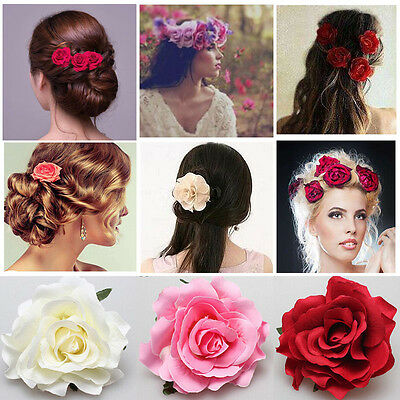 Rose Flower Hair Clip Hairpin Brooch Bridal Wedding Bridesmaid Party Accessories
