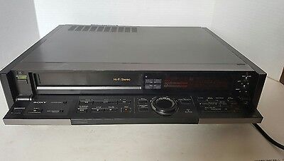 Sony Stereo Cassette Video Recorder With Editing Suite SLV -825