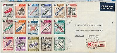 62930  - INDONESIA - POSTAL HISTORY - REGISTERED COVER to HOLLAND  1969 - MUSIC