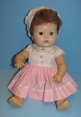 VINTAGE American Character 1950s Tiny Tears RUBBER BODY HANDS DOWN DOLL