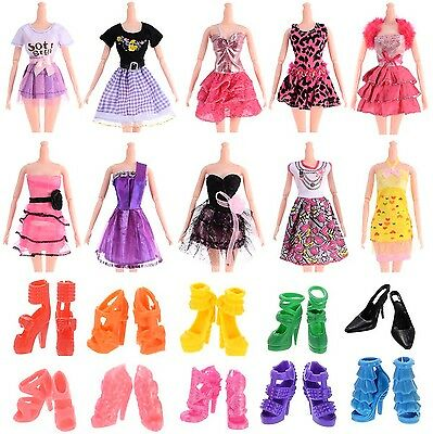 """10pcs 11"""" Barbie Doll Clothes Handmade Wedding Dress Party Gown Outfits ..."""